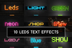 LEDs Lights Text Effects