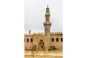 Minaret of the Al-Nasir Muhammad Mosque in Cairo - Egypt
