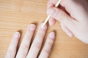 Nail manicured