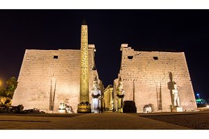Entrance to the Luxor temple - Egypt