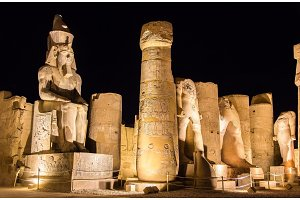 Figure of Ramses II in Luxor Temple - Egypt