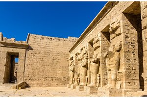 Inside the Mortuary Temple of Ramses III near Luxor - Egypt