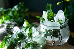 Detox ice cubes with herbs VIII