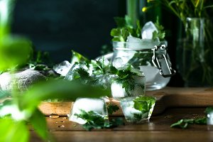 Detox ice cubes with herbs VII