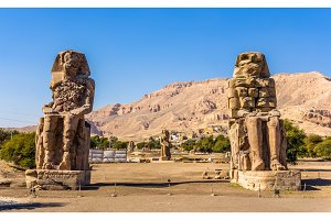 Colossi of Memnon (statues of Pharaoh Amenhotep III) near Luxor
