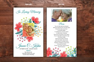 Funeral Prayer Card Template