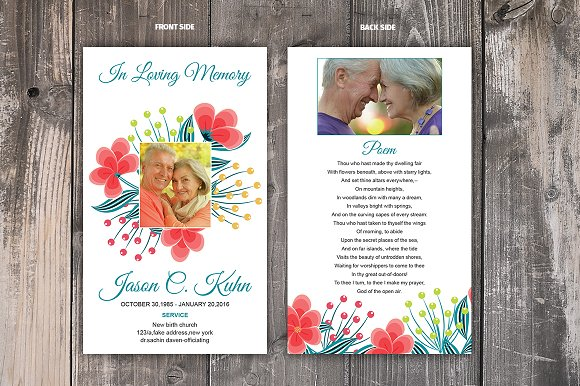 Funeral Prayer Card Template Templates Creative Daddy
