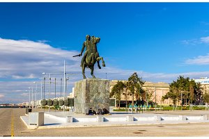 Statue of Alexander the Great in Thessaloniki - Greece