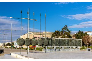 Monument of Alexander The Great in Thessaloniki, Greece