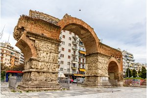 Arch of Galerius in Thessaloniki - Greece