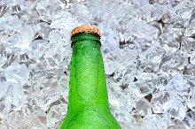 Lemon Lime Soda Bottle on Ice