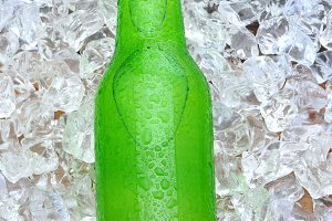 Lemon Lime Soda Bottle on Ice