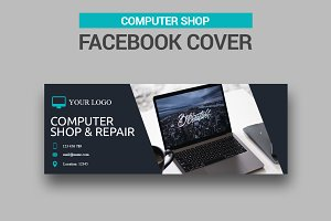 Computer Shop Facebook Cover
