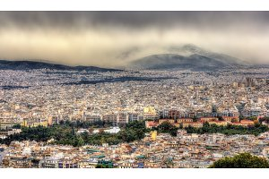 View of Athens from Mount Lycabettus - Greece