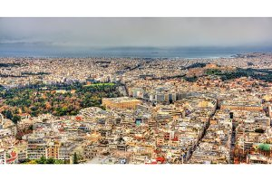 Athens with Parliament and Acropolis - Greece