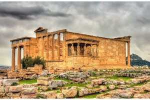 Erechtheion, an ancient Greek temple in Athens