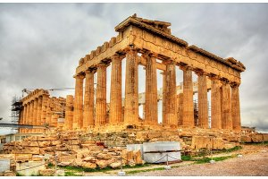 View of the Parthenon in Athens - Greece