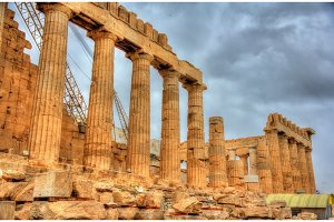 Ruins of the Parthenon in Athens - Greece
