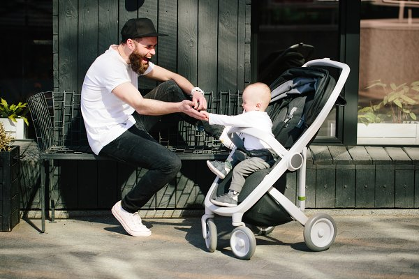 People Stock Photos - Father and a baby boy