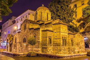 Church of Panagia Kapnikarea, an ancient church in Athens, Greec