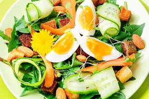 Diet vegetarian salad.Vegan salad