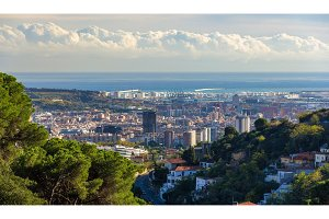 View of Barcelona from Tibidabo mountain - Spain
