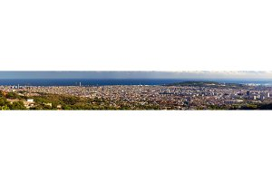 Panorama of Barcelona from the Tibidabo mountain - Spain