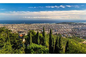 View of Barcelona and the Mediterranean Sea - Spain