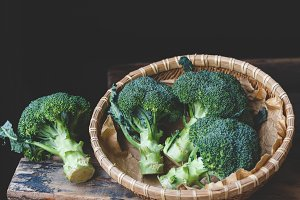 Fresh broccolis