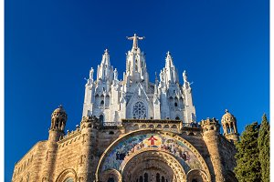 Temple Expiatori del Sagrat Cor on Tibidabo mountain in Barcelon