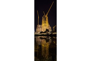 Sagrada Familia cathedral, under construction. Barcelona, Spain