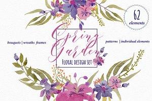Spring Garden - Floral design set