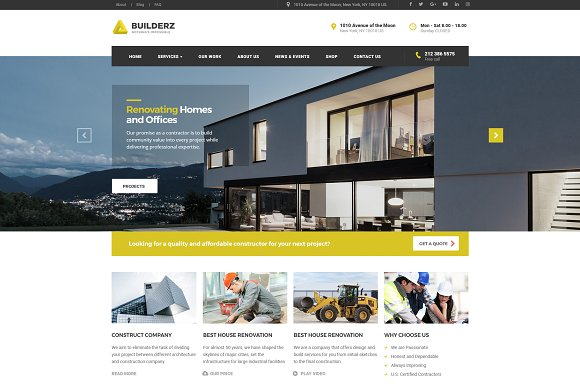 Builderz Construction WP Theme