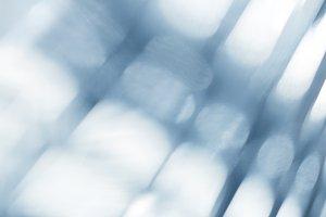 Blue blurred defocused lights