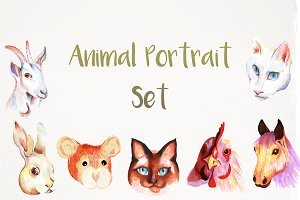 Handmade animal portraits