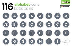 116 Alphabet Icons - Jolly - Grey