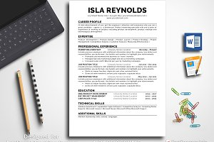 Resume Template for Word & Pages