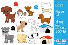 Dogs / clip art set