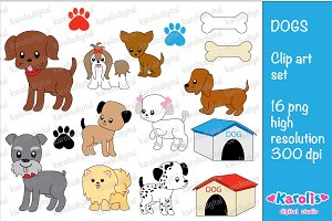Dogs / clip art set