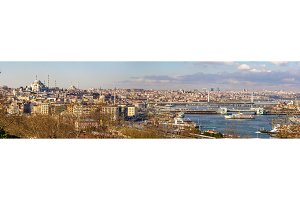 Cityscape of Istanbul from the Topkapi Palace - Turkey