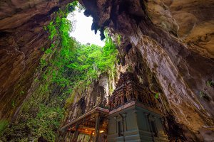 Hindu temple inside of Batu Caves near Kuala Lumpur