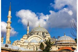 View of the Suleymaniye Mosque in Istanbul, Turkey
