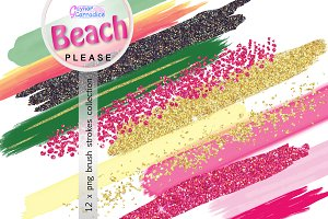 Beach Please Brush Stroke Collection