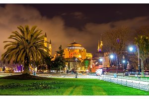 View of Hagia Sophia in Istanbul - Turkey