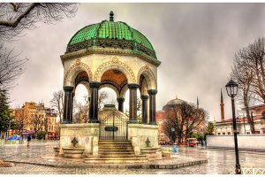 German Fountain on Sultanahmet Square in Istanbul - Turkey