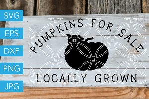Pumpkins for Sale SVG Farm SVG