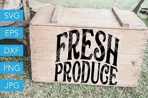 Fresh Produce SVG Cut File