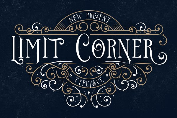 Serif Fonts: StoricType - Limit Corner Typeface + Extras