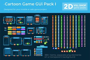 Cartoon Game Gui Pack I
