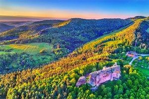 Fleckenstein Castle in the Northern Vosges Mountains - Bas-Rhin, France